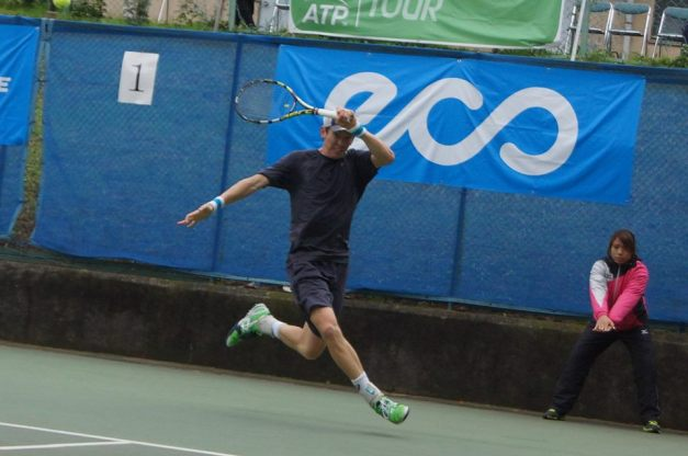 JP Smith at the Yokohama Keio ChallengerPhoto Courtesy Keio Challenger