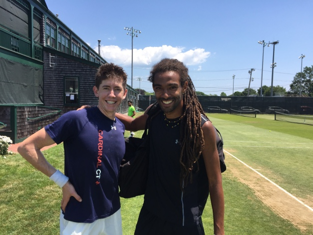 JP Smith and Dustin Brown Doubles Partners at Hall of Fame Tennis Championships Newport, RI